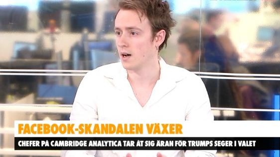 Expos ideella reporter Morgan Finnsiö intervjuas i Aftonbladet Tv.