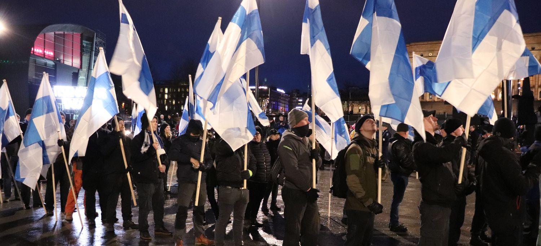 Finska, svenska, tyska och norska nazister samlades i Helsingfors, december 2019.
