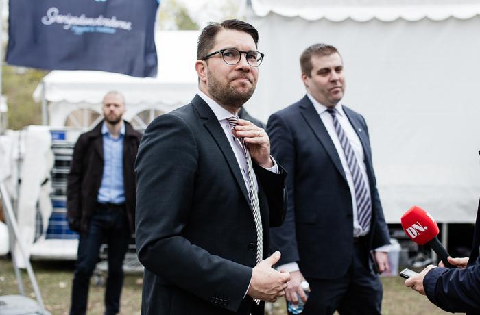 Jimmie Åkesson under Sverigedemokraternas vårtal 2017.