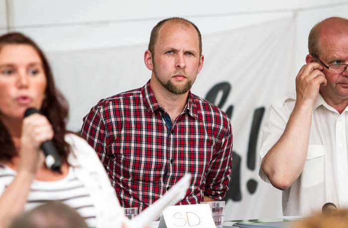 Sverigedemokraten Anders Forsberg under Almedalsveckan 2015.