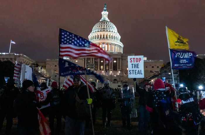 Stormningen av den amerikanska kongressen.