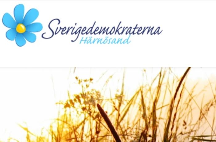 Skärmdump från SD Härnösands hemsida.