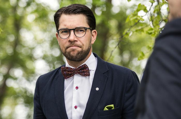 Jimmie Åkesson under Sverigedemokraternas vårtal 2016.