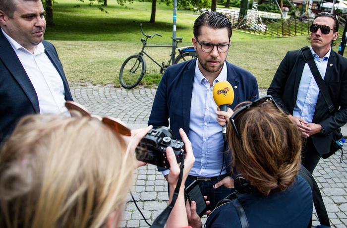 Jimmie Åkesson under Almedalsveckan i Visby 2017.