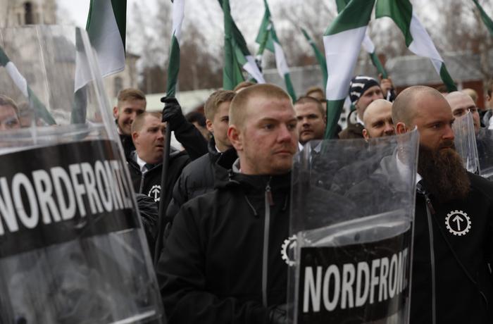 Nordiska motståndsrörelsen, förstamajdemonstration, Boden