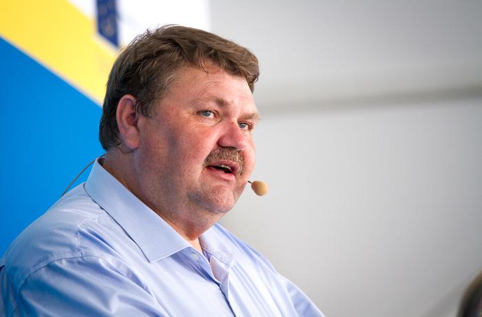 Peter Lundgren, Sverigedemokraterna, talar under Almedalsveckan 2015.
