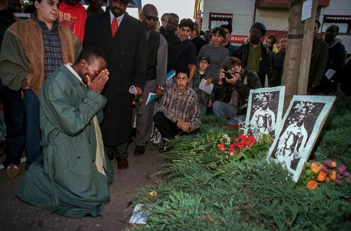 Minnesstund för Gerard Gbeyo ett år efter rasistmordet i Klippan
