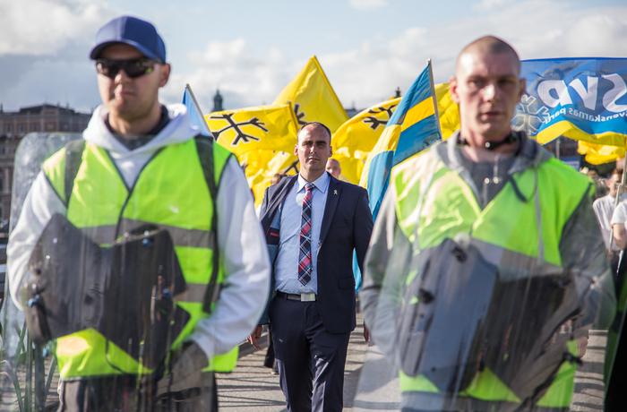 Den svenska nazistveteranen Stefan Jacobsson.