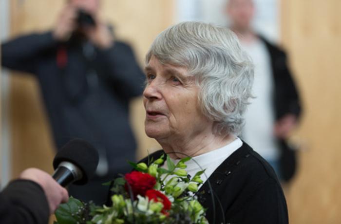 Vera Oredsson i samband med rättegången mot henne