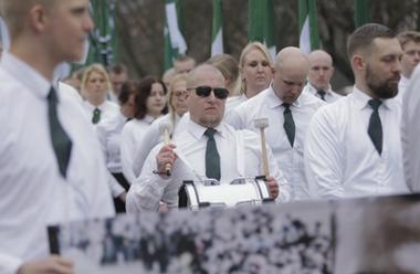 Nordiska motståndsrörelsens demonstrationståg i Ludvika