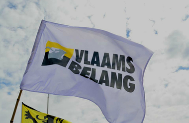 Det belgiska partiet Vlaams Belangs flagga