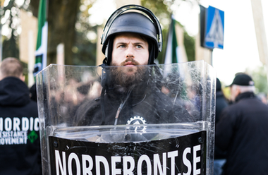 Markus Larsson, tidigare ansvarig utgivare för Nordfront.