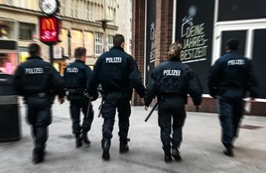 Genrebild tysk polis