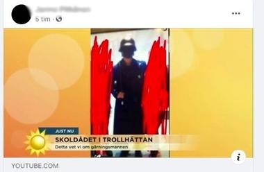 Skärmklipp från den misstänktes Facebook