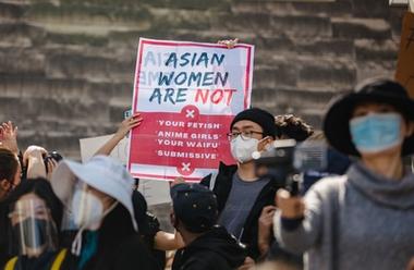 #StopAsianHate demonstration i San José mars, 2021