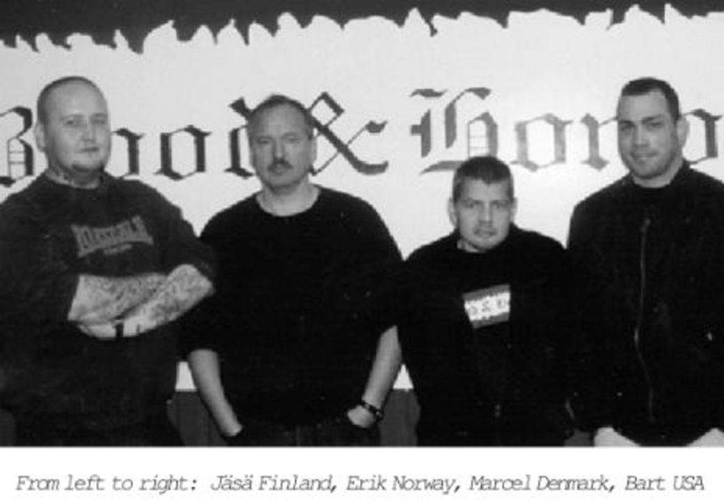 """Bart Alsbrook, """"Bart USA"""", längst till höger. Bilden från pamfletten """"Blood & Honour: The Way Forward""""."""