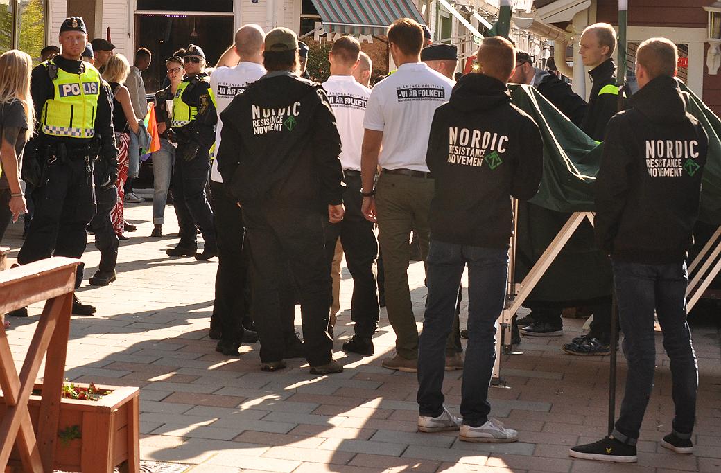 Nordiska motståndsrörelsen håller valmöte i Boden.