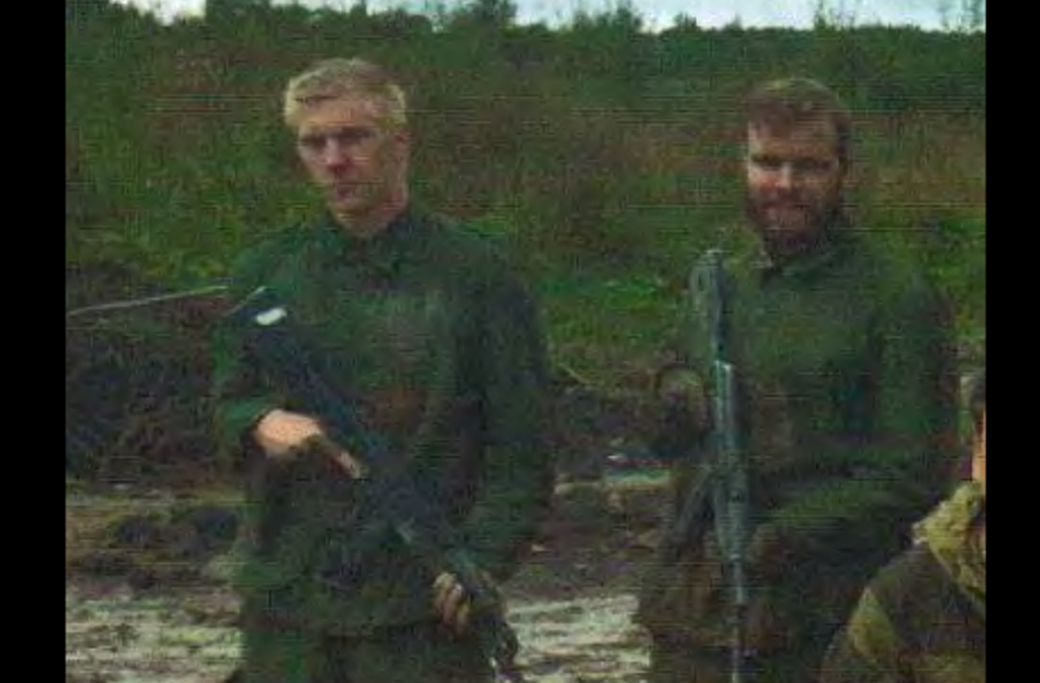 Anton Thulin (till vänster) i träningslägret i Ryssland 2015.