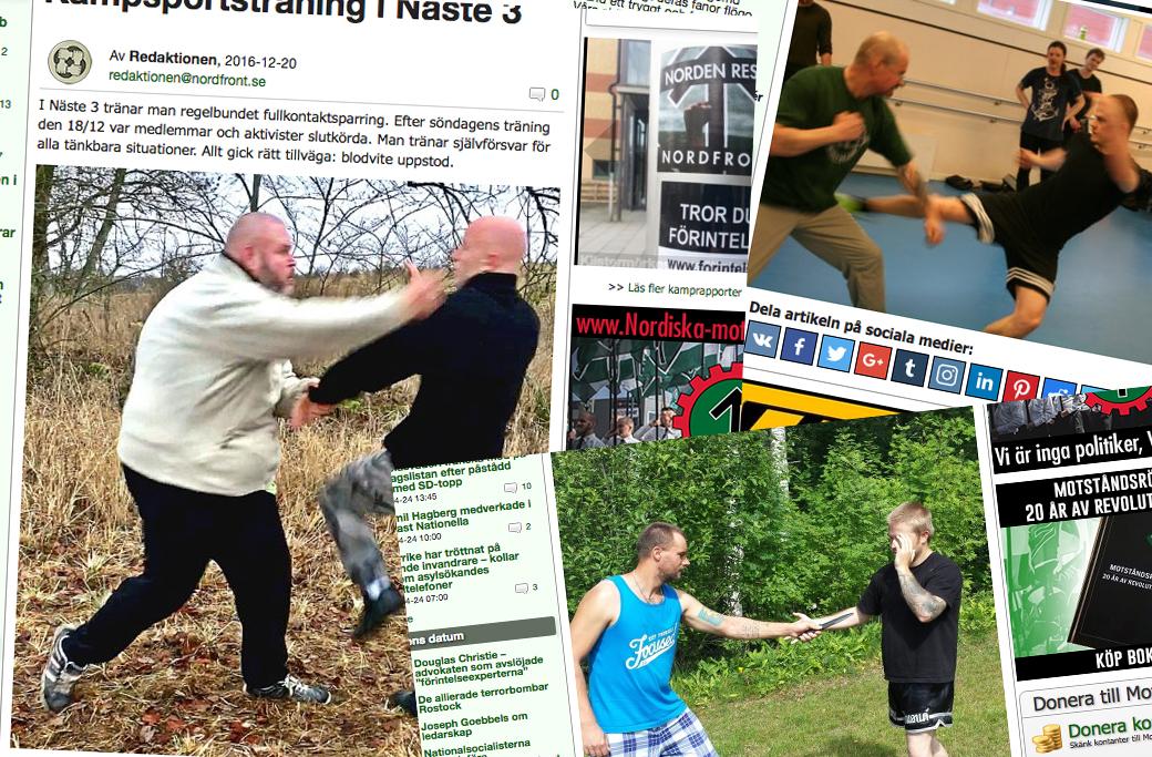 Nordiska motståndsrörelsen bedriver regelbunden kampsportsträning.