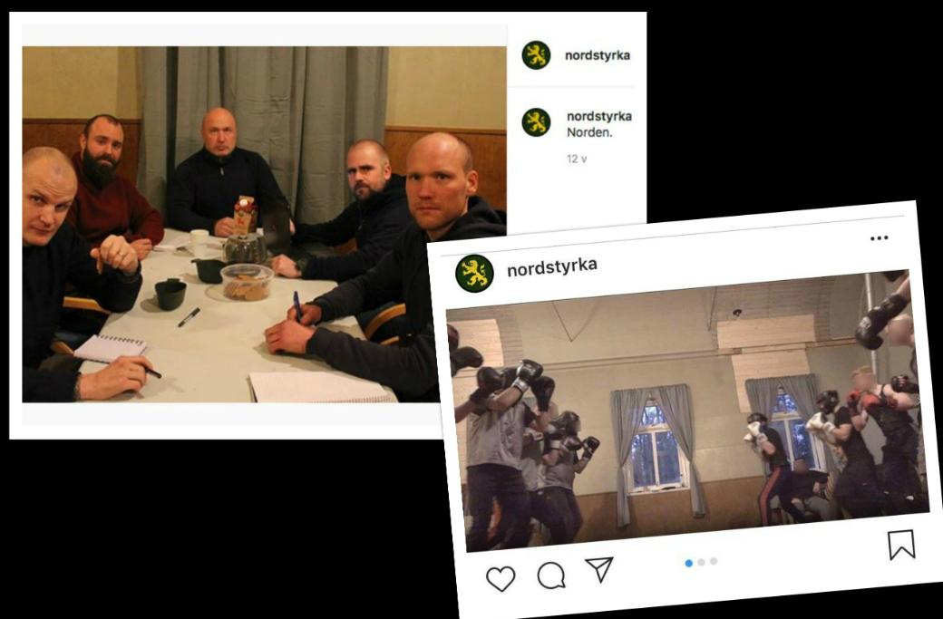 På sociala medier visar Nordisk styrka upp sin verksamhet i det nya huset.