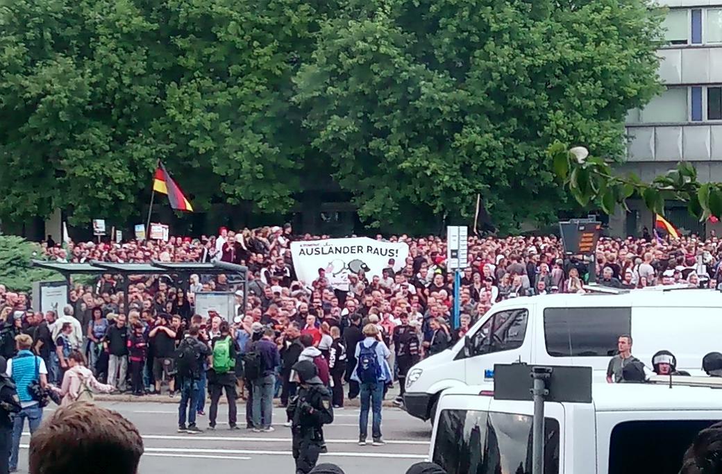 Högerextrema demonstrationer i Chemnitz.