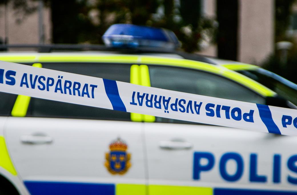 Genrebild polisavspärrning