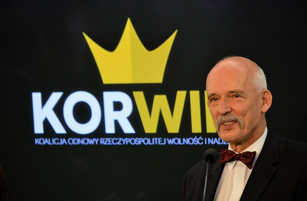 Den polske parlamentsledamoten Janusz Korwin-Mikke. Arkivbild från 2015.