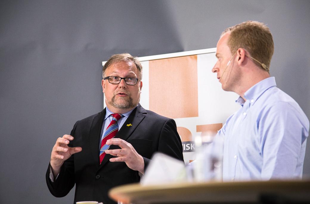 Sverigedemokraternas Mikael Jansson under Almedalsveckan 2015.