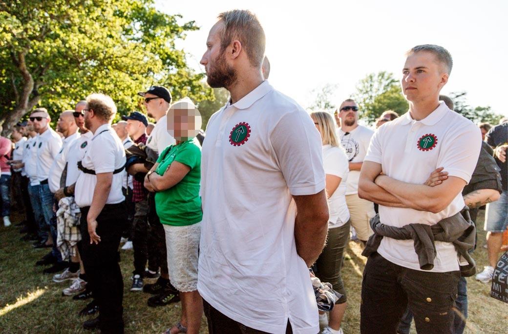 Nordiska motståndsrörelsen stör Annie Lööf under hennes Almedalstal