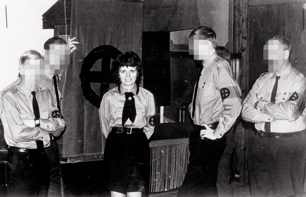 Vera Oredsson, partisekreterare för Nordiska Rikspartiet.