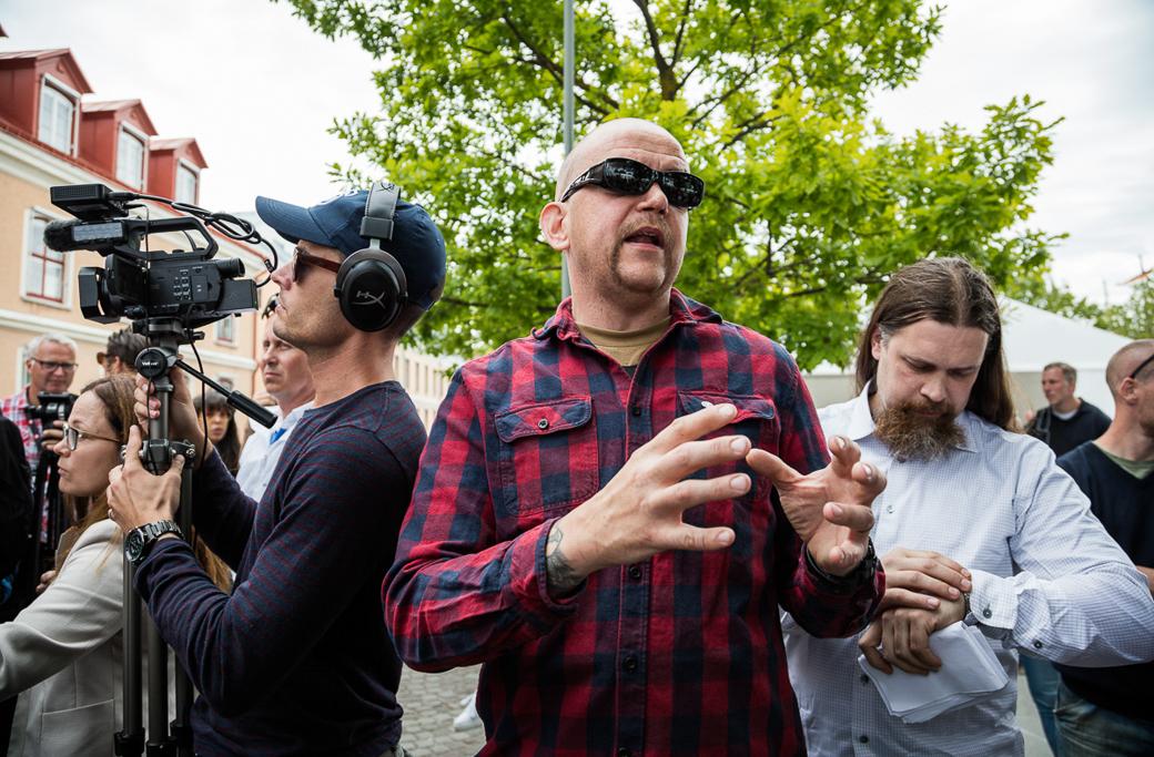 Pär Öberg från Nordiska motståndsrörelsen.
