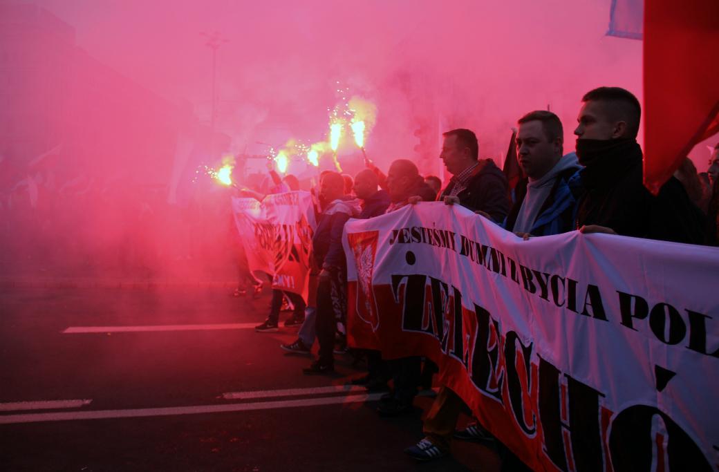 Nordisk ungdom, Roberto Fiore, Polen, Självständighetsdagen,