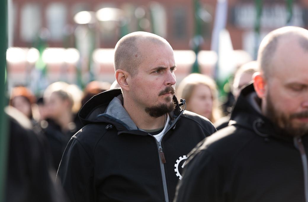 Simon Olsson, ledare för Nordiska motståndsrörelsen.