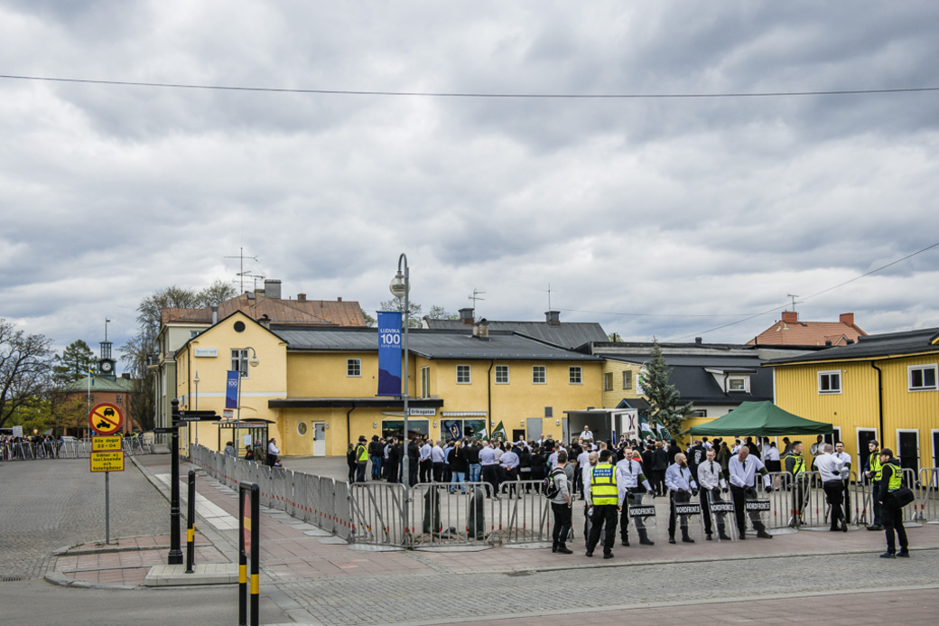 Nordiska motståndsrörelsen I Ludvika på första maj 2019.