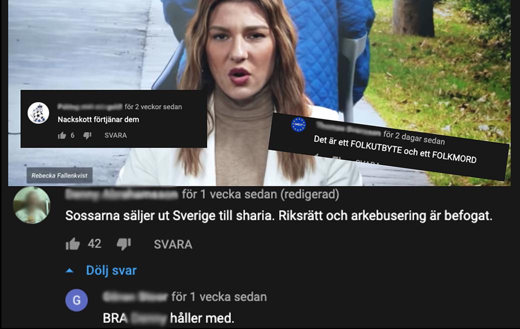 Våldsuppmaningar i kommentarsfälten på Riks.se