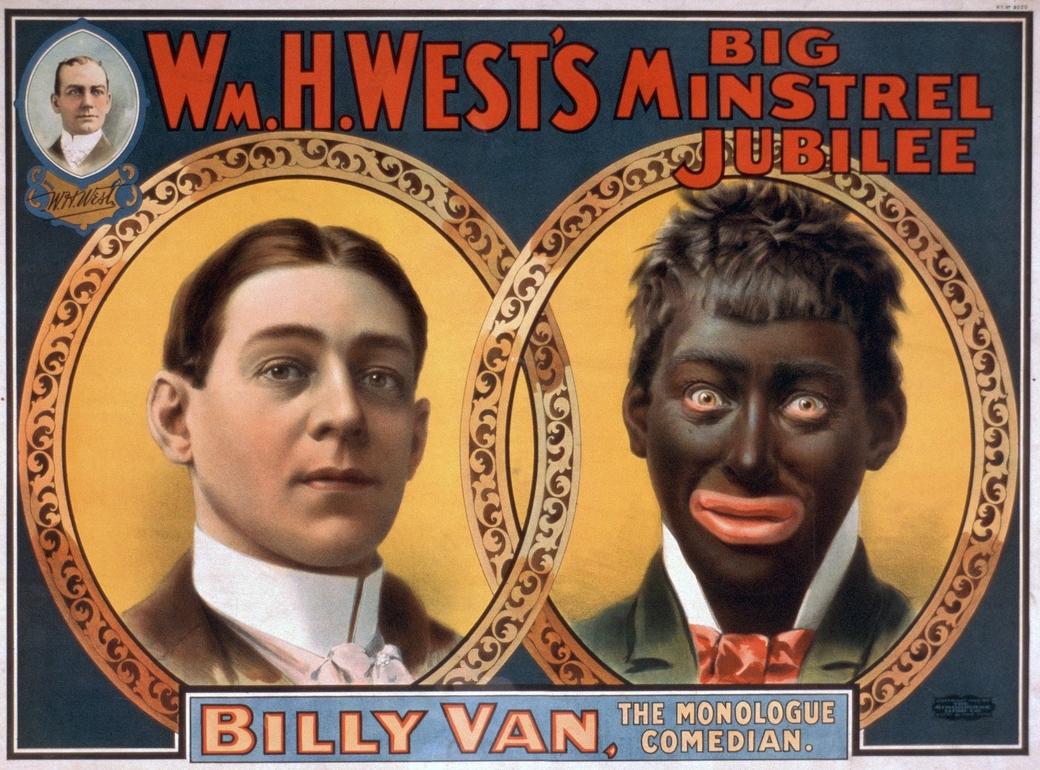 Minstrel-show-affisch från 1900-talet.