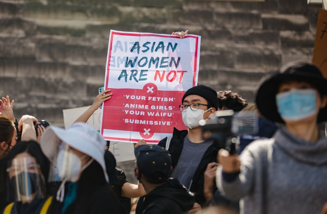 #StopAsianHate demonstration i San José mars, 2021