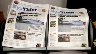 Tidningen Nya Tider på Bok- och biblioteksmässan i Göteborg
