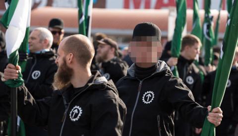 23-åringen i samband med NMR:s demonstration i Göteborg förra året.