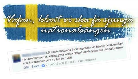 En 24-årig döms för hets mot folkgrupp för en kommentar han skrev i en öppen Facebook-grupp.