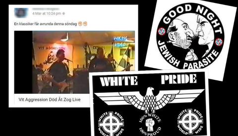 Man spred nazistisk och rasistisk propaganda på sociala medier.