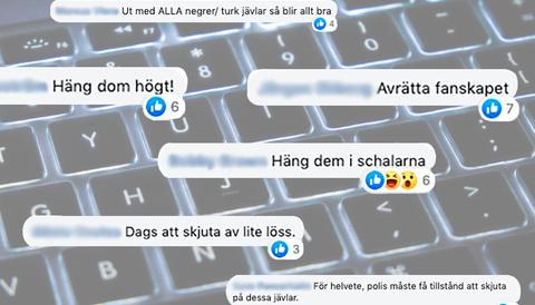 I SD-vänliga Facebookgrupper sprids hat och våldsuppmaningar.
