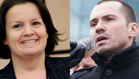 Mara Bizzotto (Lega Nord) och Angel Dzhambazkis (IMRO)