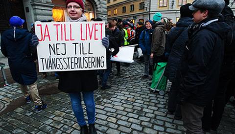Kd protest mot homosexuell