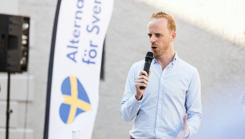 Gustav Kasselstrand, Alternativ för Sverige