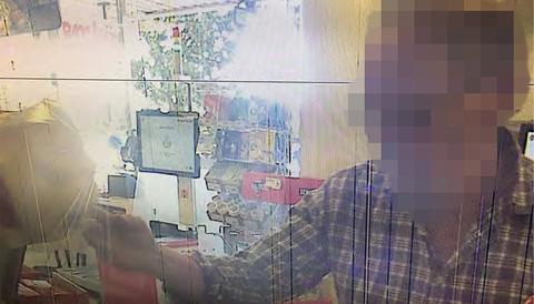 Butiksbild från polisens förundersökning