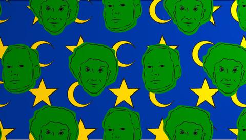 Bat Ye'or och Breivik, illustration av Hanne Lindberg