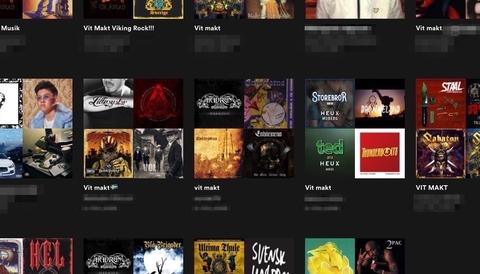 På Spotify finns just nu flera spellistor som liknar den som lett till åtal.