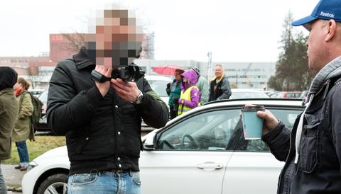 Medlem i Nordiska motståndsrörelsen misstänks för ohörsamhet mot ordningsmakten.