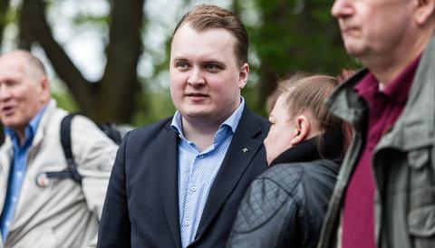 Pavel Gamov under Sverigedemokraterna vårtal 2016.